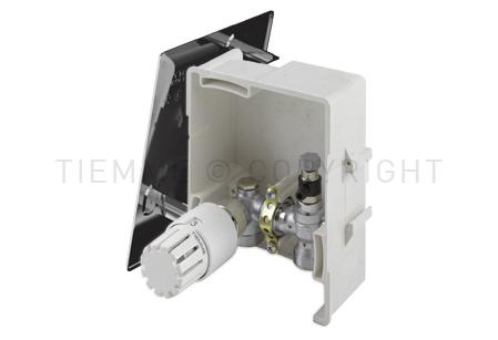 4490C TIEMME BOX 1 per la regolazione del riscaldamento sulla base della temperatura ambiente. Versione cromata