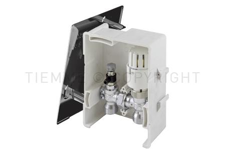 4491C TIEMME BOX 2 per la limitazione della temperatura di ritorno del circuito di riscaldamento (RTL). Versione cromata