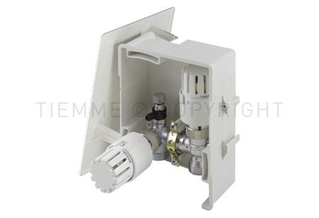 4492 TIEMME BOX 3 per la regolazione del riscaldamento sulla base della temperatura ambiente e la limitazione della temperatura di ritorno del circuito (RTL)