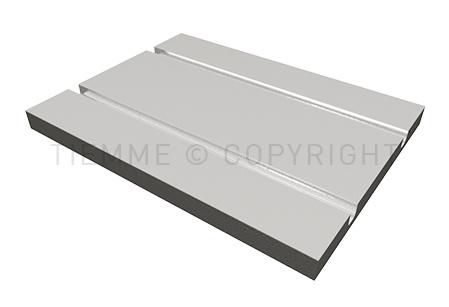 Pannello isolante per sistemi radianti a pavimento a secco