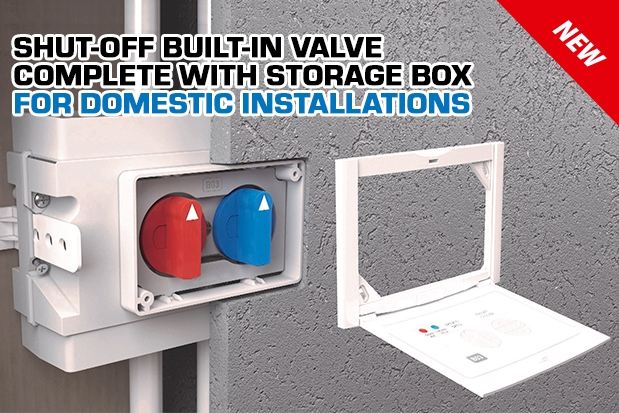 SHUT-OFF BUILT-IN VALVE COMPLETE WITH STORAGE BOX FOR DOMESTIC INSTALLATIONS Art. 2276 - 2276U